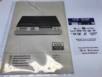 Manual: Philips VCR Video2000 - SE, SF, E, DK, N, GB, NL, FR, DE, IT