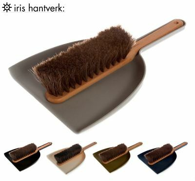 Iris Hantverk Handheld Dustpan Dust Pan & Brush Set with Horsehair, 5 Colours