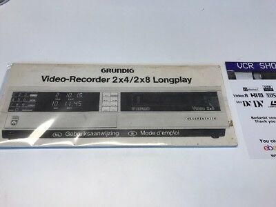 Manual: Grundig Video2000 2x4 2x8 Longplay - NL, FR