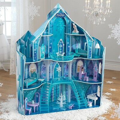 Frozen Snowflake Mansion Dollhouse Girl's Playhouse KId's Play Castle House Toy
