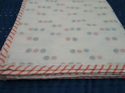 Polka Dot Cotton Swaddle cum bedspread- Baby wrap 44x44'' Size 0-2 year Baby Thr