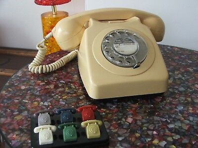 Vintage Cream BT Rotary Dial Telephone Model 8746G ~ Converted & Working