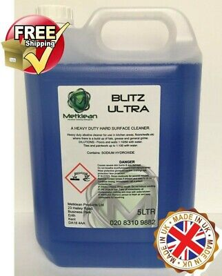 Blitz Heavy Duty Hard Surface Cleaner And Degreaser Floors Walls Kitchens 5 Ltr