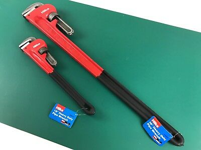 "2: Pipe Wrench 36"" 18"" Stillson Monkey Wrenches Heavy Duty Hilka"