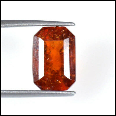 6.15Ct NATURAL RARE EARTH MINED AAA HESSONITE GARNET CEYLON OCTAGON CUT 115-13