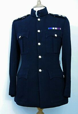 Unusual Royal Engineers Commissioned Soldier Dress Blues Uniform 1970s-1980s