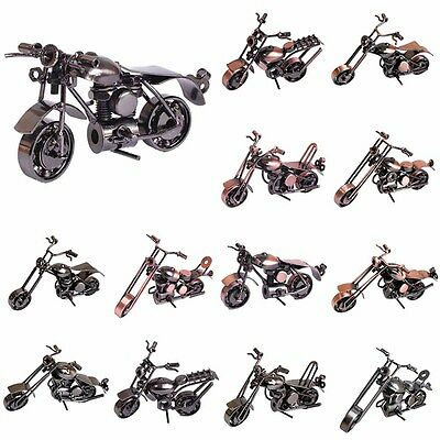 3D Vintage Handmade Craft Metal Motorbike Motorcycle Model Toy Collection Decor
