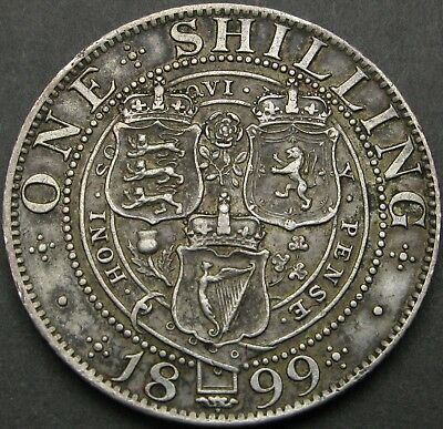 GREAT BRITAIN 1 Shilling 1899 - Silver - Victoria - VF+ - 514 ¤