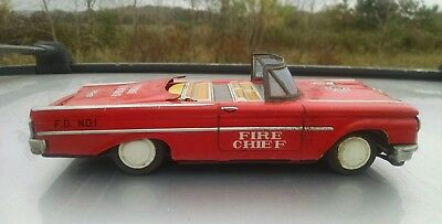1960s friction retractable roof ford fairlane fire chief by daito