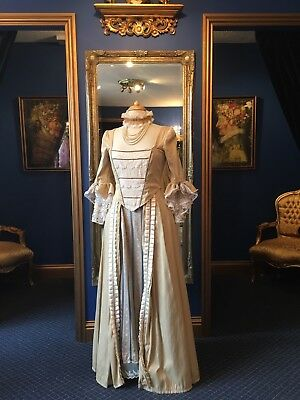 Beautiful 18th Century Theatrical Style Day Dress, Gorgeous Detailing, Stunner!!