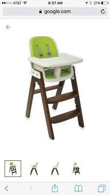 OXO Tot Sprout High Chair, Pink/Walnut used