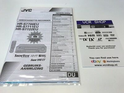 Manual: JVC HR-S7700 HR-S7711 HR-S7722 - NL