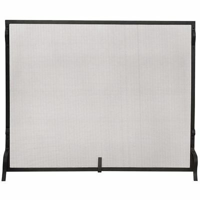 Fireplace Screen Fire Place Guard Durable Mesh Sturdy Support Legs Protect Floor