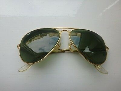 Vintage Genuine 1980s B & L Ray Ban Aviator 58/14 Sunglasses.