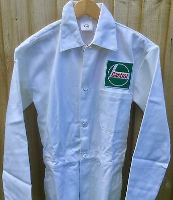 "RARE! Forties Fifties Revival Classic Vintage Castrol Badged Overalls 36"" Chest"