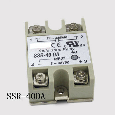 SSR-40DA 40A 3-32VDC 24V-380V Solid State Relay For PID Temperature Controller