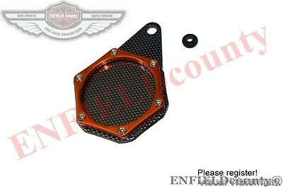 MOTORCYCLE ORANGE COLOUR CARBON TAX DISC TOKEN HOLDER MOTORBIKES @AEs
