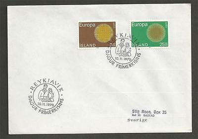 ICELAND - 1970 Eurostamps  -  COVER (NOT FIRST DAY)-