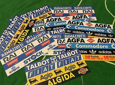 40 Subbuteo Pubblicità adesive per stadio Advertising sticker per fence c118