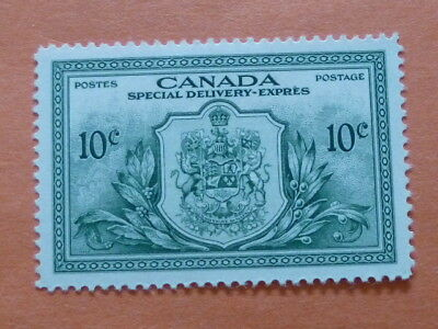 """Canada 1946 """"Special Delivery"""" SG S15  10c Green  Mounted Mint"""