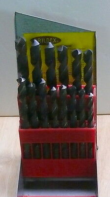 DRILL BITS > DRILDEX  > SET OF 13 DRILLS w/CASE  < > 19/64 to  1/2