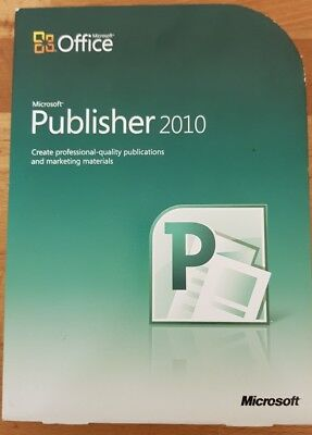 Microsoft Office 2010 Publisher FULL RETAIL PACKAGE ***A RARE OFFERING***