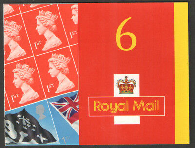 2001 SG PM4 6X1st CLASS FLAGS AND ENSIGNS STAMP BOOKLET SELF ADHESIVE