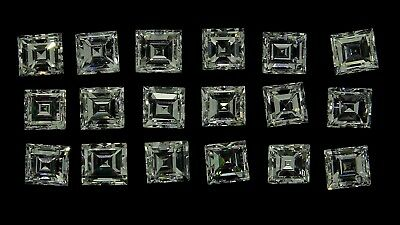 set of natural square baguette diamonds F-G VS 1.96ct genuine loose diamonds