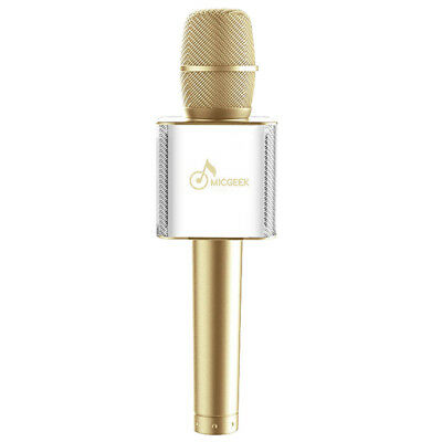 FP MicGeek Q9 Microphone Bluetooth Karaoke USB Play For iPhone 7 Computer Gold