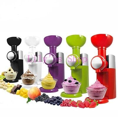 Ice Cream Maker Automatic Fruit Machine Frozen Dessert  Milkshake 220v Diy HOOT
