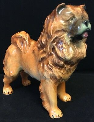 Antique Quality Porcelain Dog CHOW CHOW ? 4""