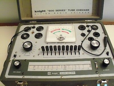 """Knight """"600 Series"""" Tube Tester - KG-600B, Works Great"""