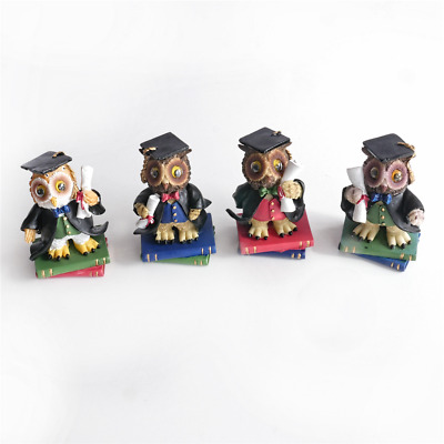 Regency Fine Arts Wise Owl Mini Figurine Set of 4, Graduation Gift, Exam Pass
