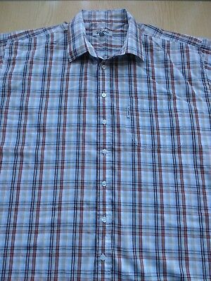 "Mens RYDALE shirt XXL 2XL chest 50"" collar 18.5"" short sleeves chest pocket"