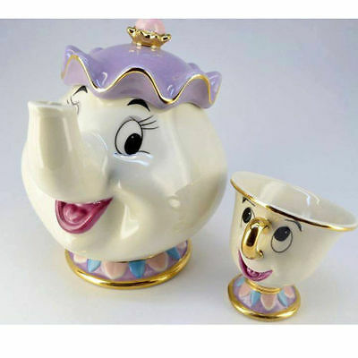 New Beauty &The Beast Teapots Mugs Mrs. Potts Chip Tea Pot and Cup Sugar Set UK