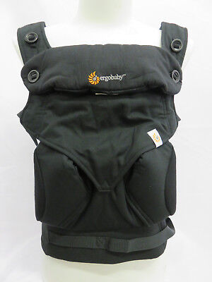 ErgoBaby Four Position 360 Pure Black  Baby Carrier - AUTHENTIC