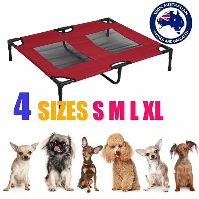 RED Heavy Duty Pet Dog Cat Summer Bed Trampoline Hammock Cot Size S M L XL AUS