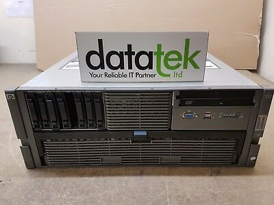 HP PROLIANT DL585 G5 4U RACK SERVER 4x AMD 8356, 128GB, P400/256MB,  2x 72GB HDD