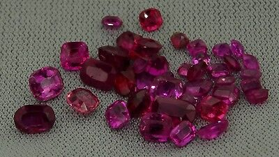 lot of natural antique rubies 4.28ct genuine loose gemstones