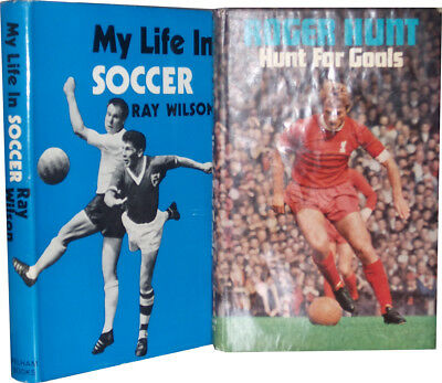 Signed Ray Wilson My Life In Soccer Roger Hunt For Goals England 1966 World Cup