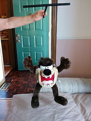 "Looney Toons VTG 17"" Tasmanian Devil Stuffed Marionette Puppet Play-By-Play 1996"