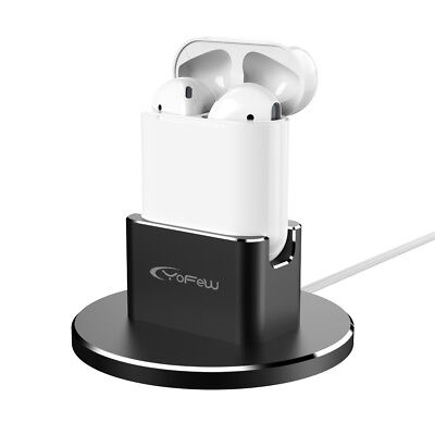 2 in 1 Charging Dock Holder Station Aluminum for Airpods Accessories iPhone 8 7
