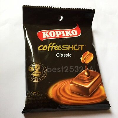 Sweet Strong Coffee Hard Candy Kopiko Coffee Shot Classic pack 9 tablets 27 gm