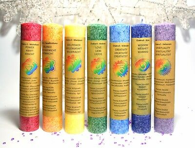 ** New** Reiki Chakra Candles Gift Wrapped Set Of Seven