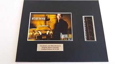 THE ITALIAN JOB  2003.. .....Original Limited Edition film cells mounted.