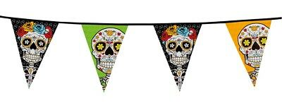 Halloween Party Dekoration Day of The Dead Wimpel 10 m