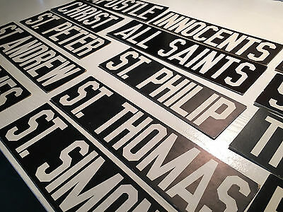 """Vintage American black & white thick-paper """"words"""" signs days menu board letters"""