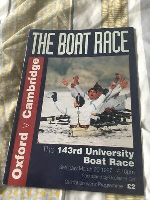 The Boat Race - Oxford V Cambridge - 1997 - Official Programme