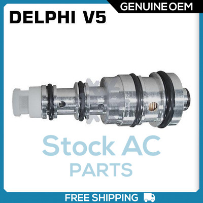 Brand New DELPHI OEM Mechanical A/C Control Valve V5 Compressor (Blue)