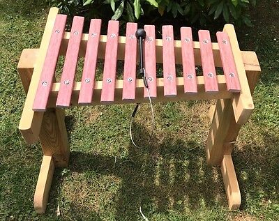 Percussion Plus Uk Made Outdoor 10 Note Xylophone - 65 Cm High